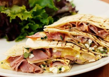 Quesadillas med cottage cheese