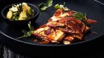 Quesadillas med flankstek och ananas- och avokadosalsa