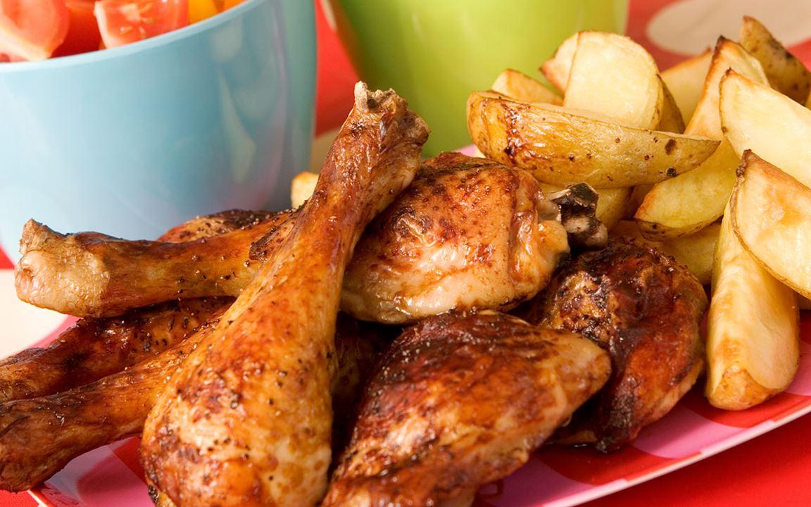Kycklingklubbor med dipp