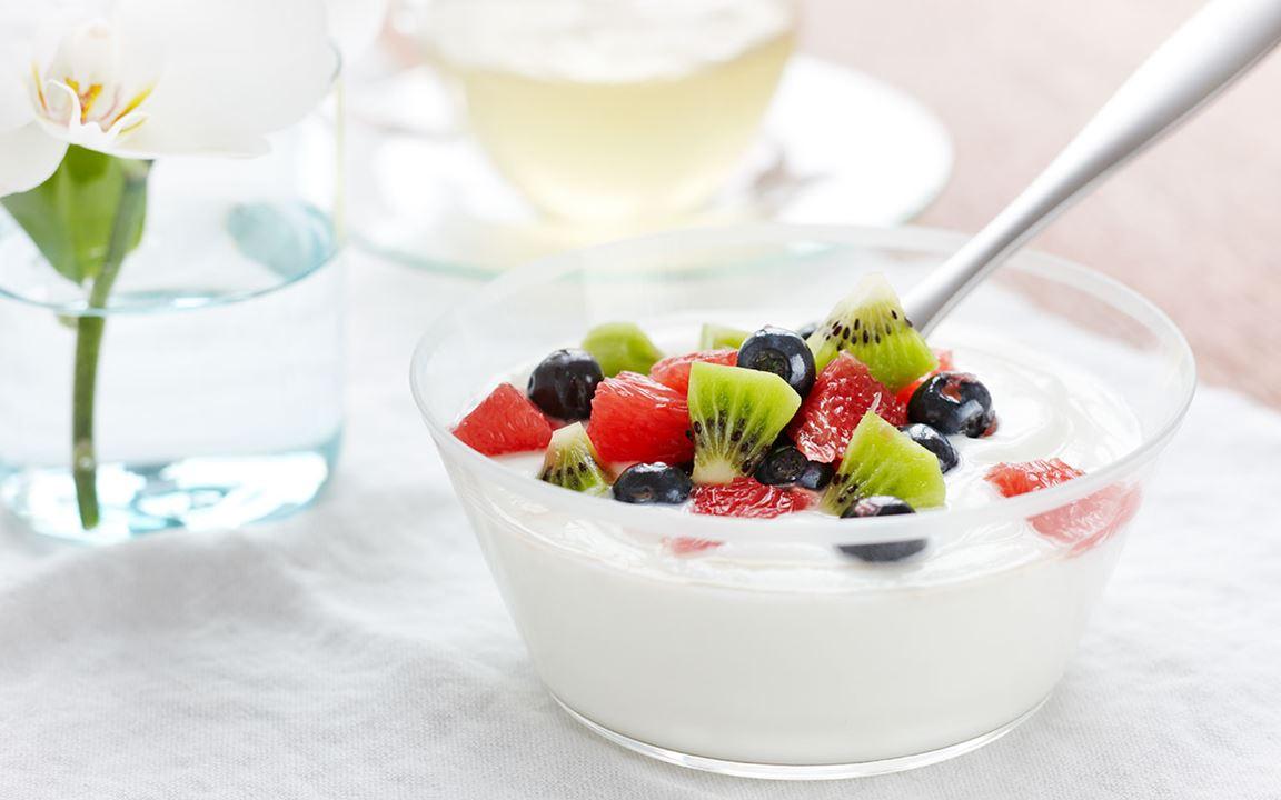 Fruktsallad med fil