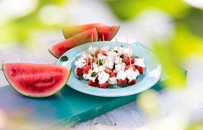 Getost med marinerad vattenmelon