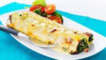 Cannelloni med spenat och skinka