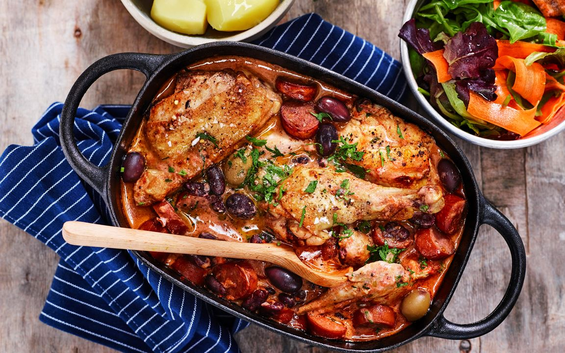 Kycklinggryta med chorizo