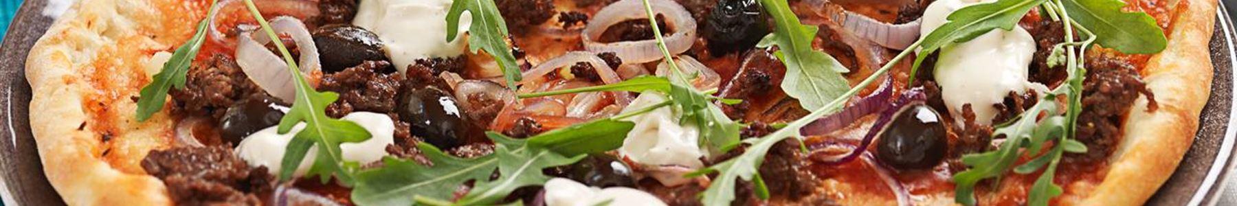 Pizza med köttfärs