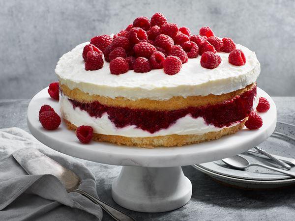 Lättfryst yoghurttårta