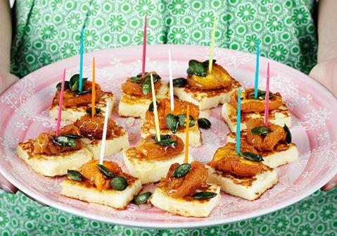 Grill cheese med honung och aprikos