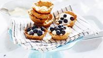 Frasiga små blåbärspajer