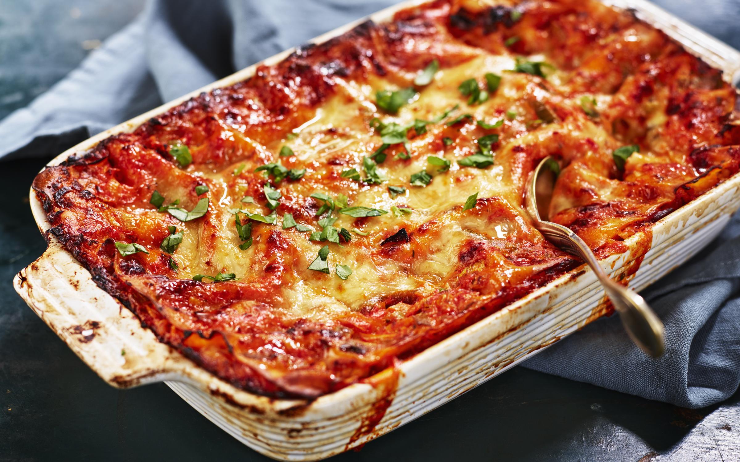 enkel vegetarisk lasagne