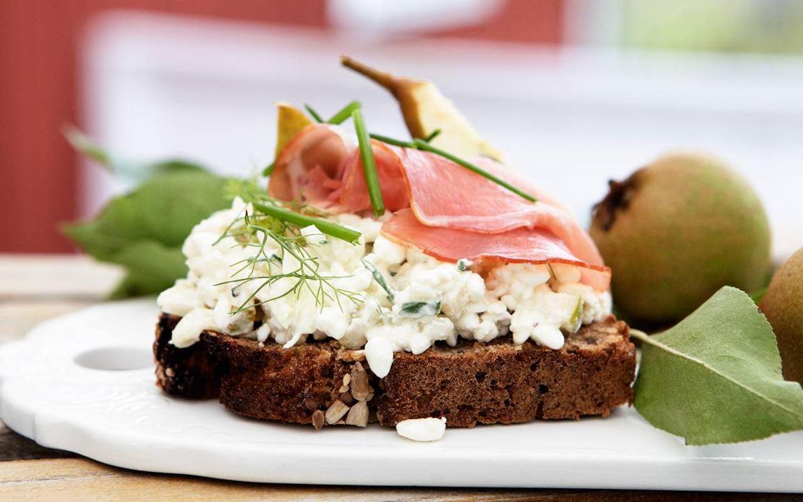 Bondens smörgås med skinka