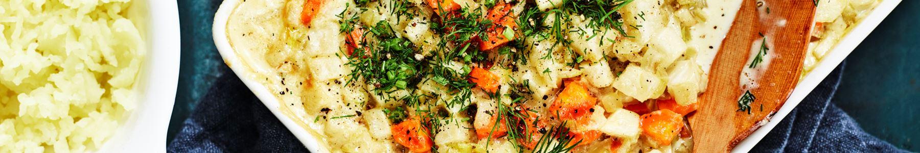 Kalorisnåla recept med torsk i ugn