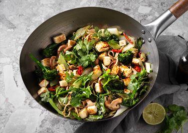 Paneer wok med koriander och lime
