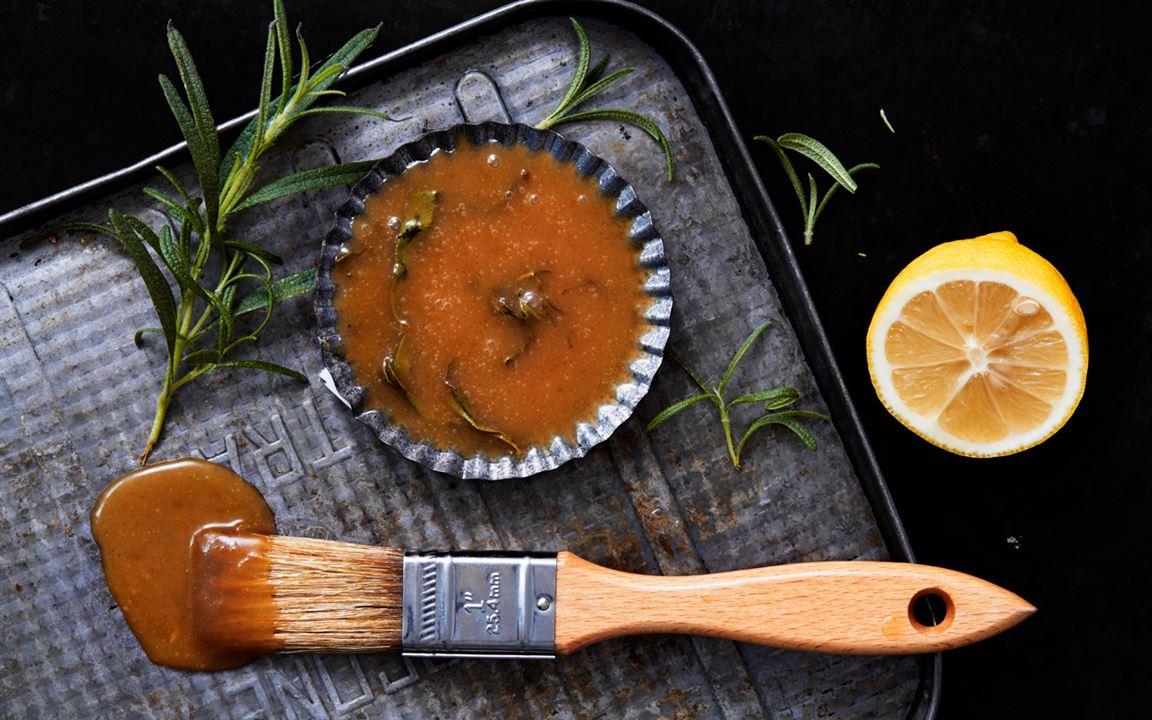 Glaze med brynt smör och citron