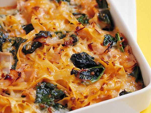 Pastagratäng med mozzarella