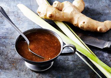 Asiatisk glaze med brynt smör och soja