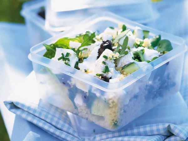 Couscous med ost och mynta