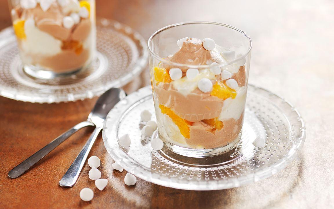 Marängsviss med choklad och apelsin