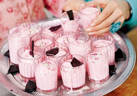 Rosa chokladmousse