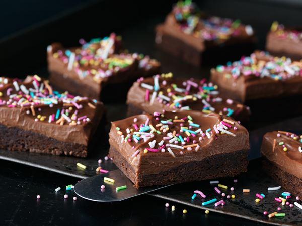 Brownie med enkel frosting