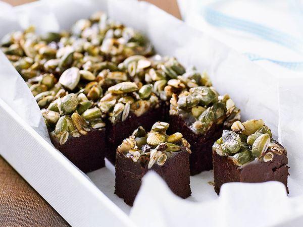 Chokladtryffel med rostade frön