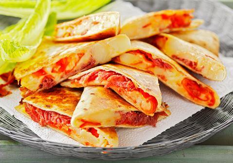 Quesadillas med salami