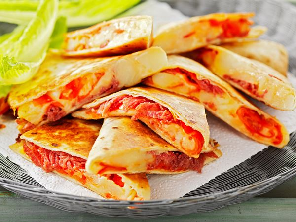Quesadillas med salami