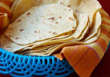 Hembakade tortillas