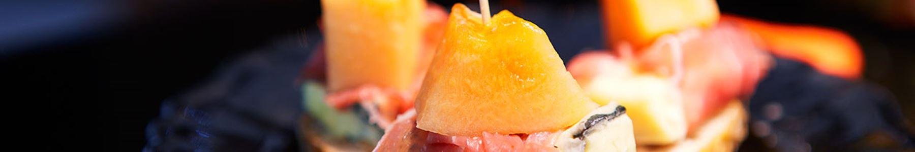 vegetarisk förrätt melon