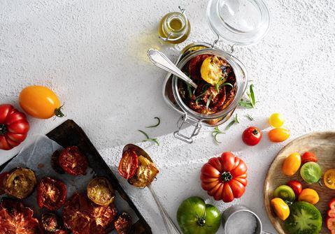 Rostade tomater i ugn