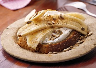 Mellismacka med banan