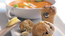 Muffins med oliv och vitost