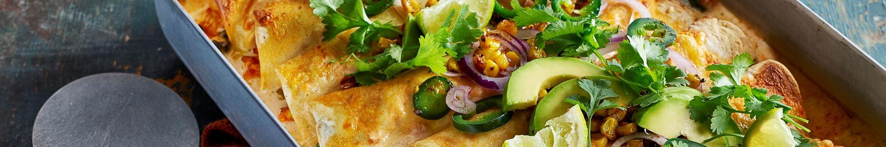 Avokado + Enchiladas + Gratinerad