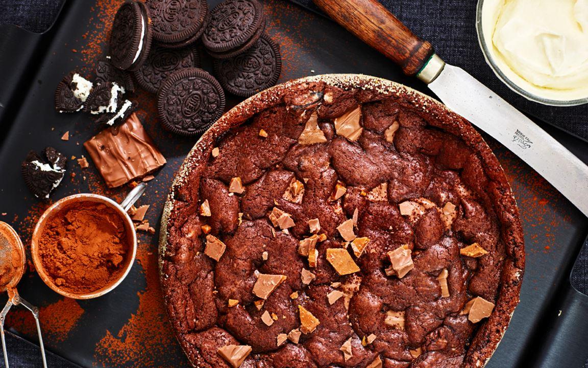 Kladdkaka med Daim, Nutella och Oreo-kakor