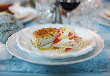 Quiche med fänkål och tomat