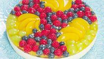 Himmelsk fromagetårta med frukt