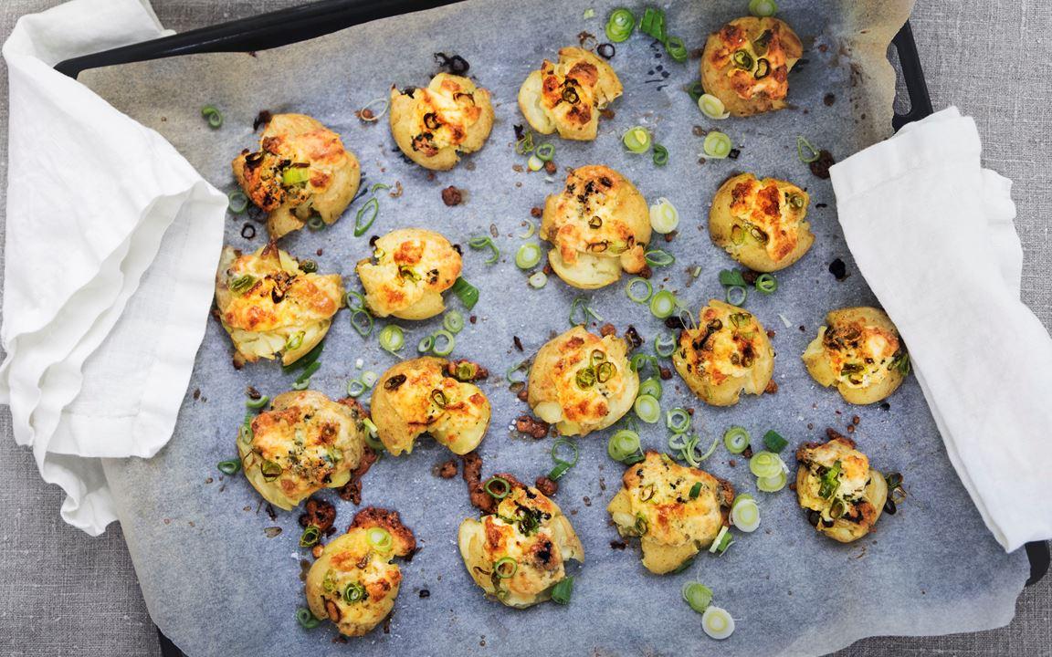 Krossad potatis med Kvibille Gräddädel och salladslök