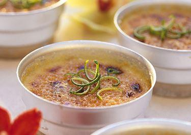 Crème brulée med lime och ingefära
