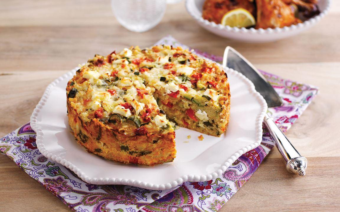 Ris- och grönsakspaj med vitost