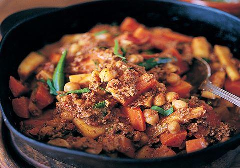 Chili con carne med kikärter