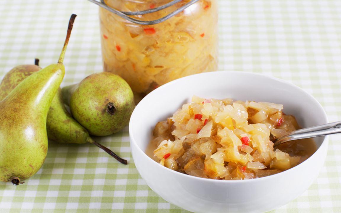 Päronchutney med chili