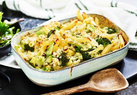 Broccoligratäng med pasta