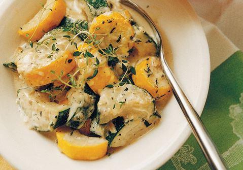 Stekt zucchini med parmesan
