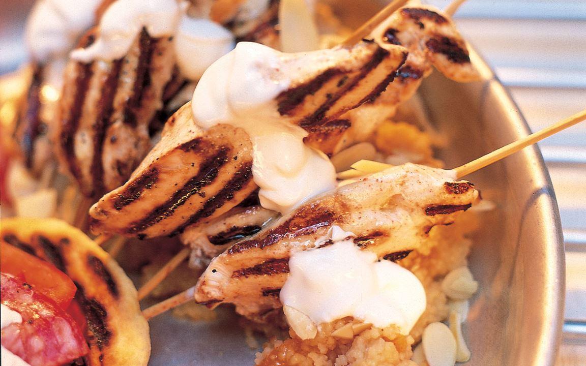 Marinerad fläskkarré med jordnötssås
