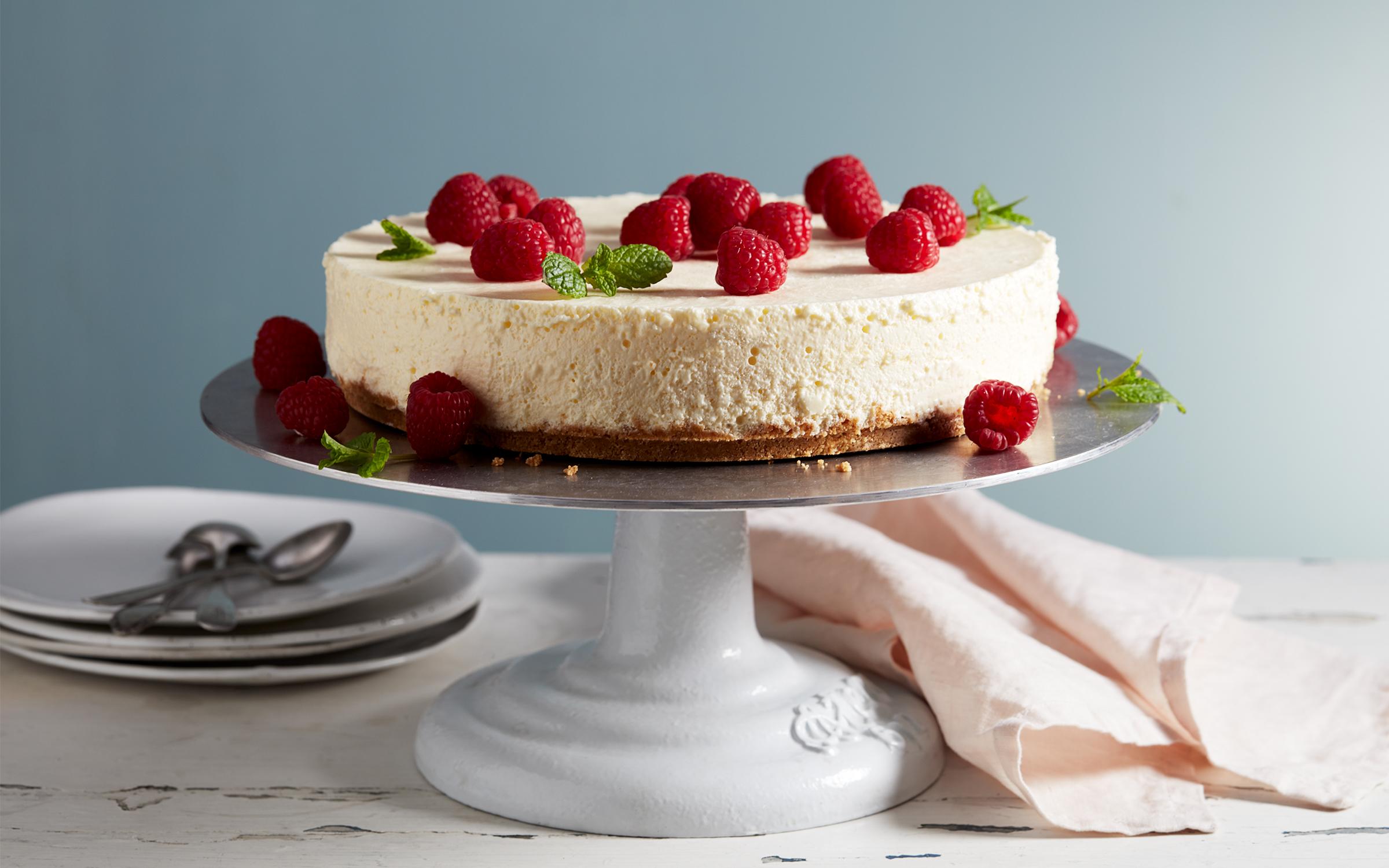 falsk cheesecake recept