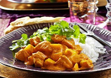 Mango chicken balti