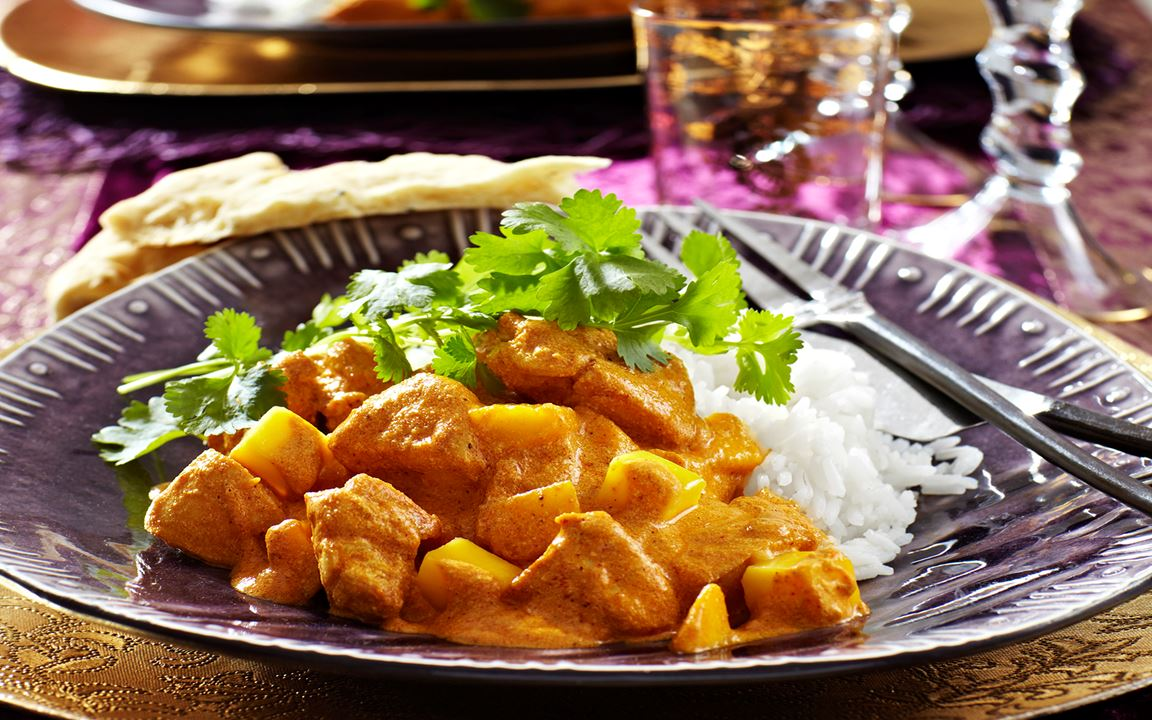 Mango chicken balti