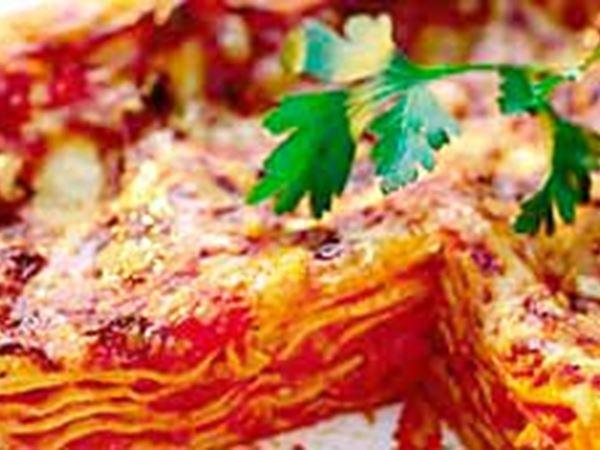 Lasagne med bacon, för flera