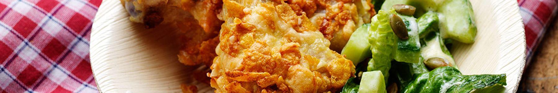 Amerikansk + Kyckling + Middag