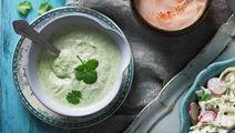 Yoghurtsås med koriander