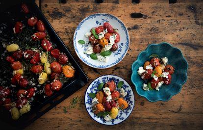 Marinerade tomater med gorgonzola