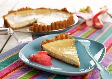 Cheesecake med rabarber